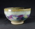 "one of many bowls this size approx 6"" dia. all different glazes/colours."