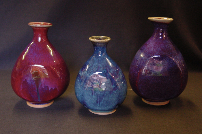 3 small vases