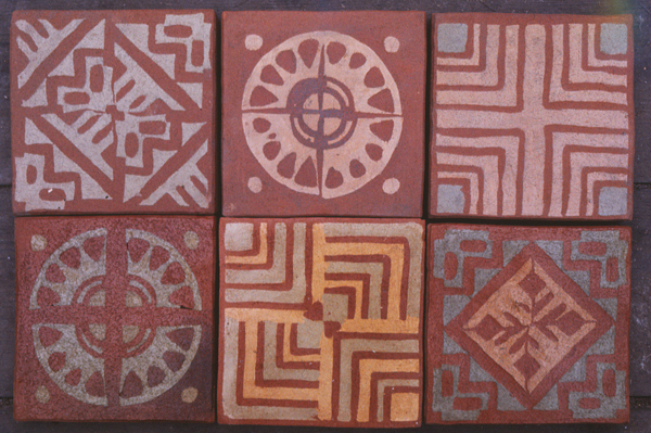 inlaid or encaustic tiles