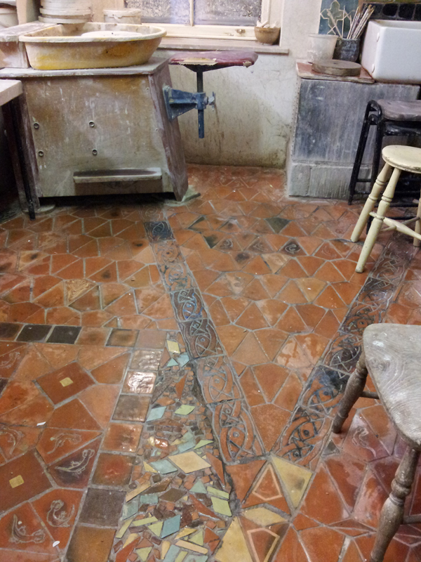 pottery studio floor