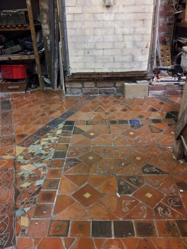 my pottery studio floor