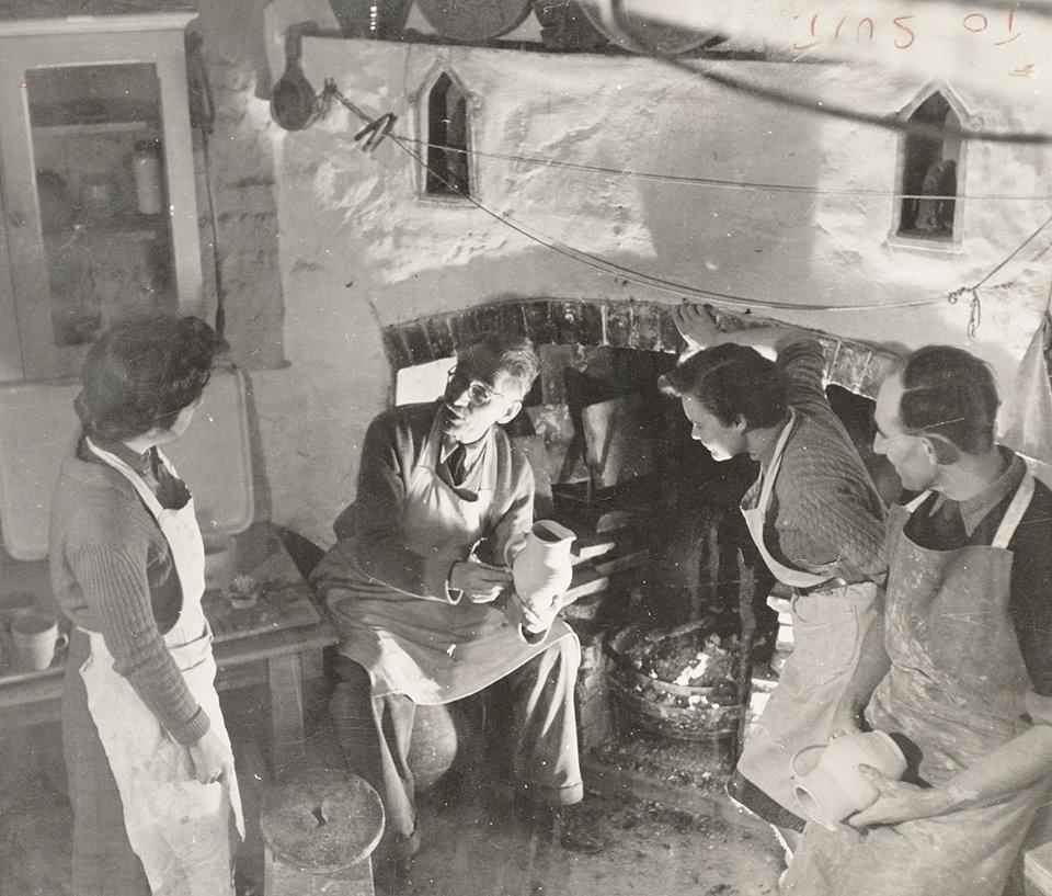 Bernard Leach fireplace 1946