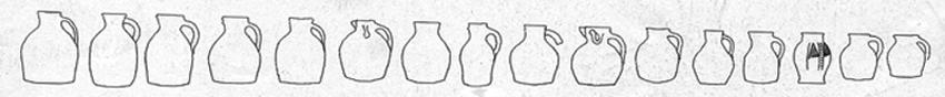 medieval Jugs line drawing