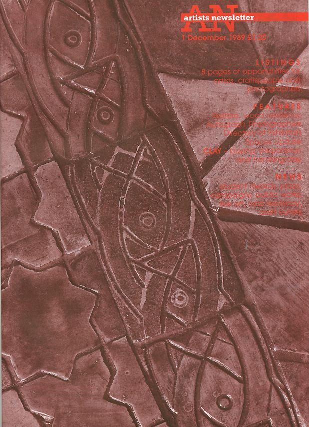 Artist's Newsletter front cover