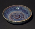 """Twin fish bowl, there are several bowls approx this size 8.5"""" dia. different glazes, some with the twin fish motif."""