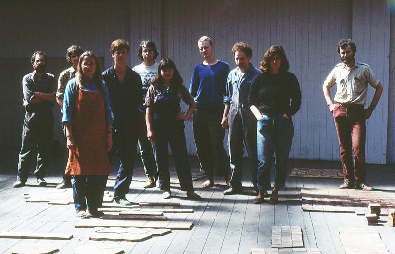 The ceramics team 1984