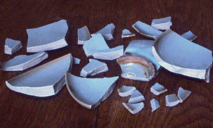 Broken Jun ware 11th Century dish