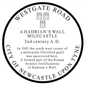 The Milecastle Plaque